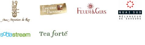 Aux Schokoladen; Epicerie de Provence; Feuer Glas; Quai Sud; Sodastream, Teaforte