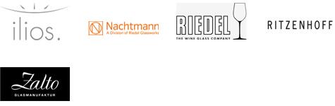 Ilios; Nachtmann; Riedel; Ritzenhoff; Zalto