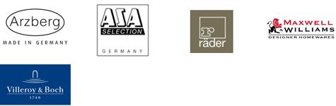 Räder; Asa; Arzberg; Maxwell Williams; Villory Boch