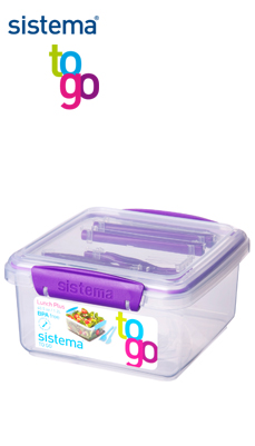 Sistema_TO GO_SI24652_Lunchbox mit Besteck lila