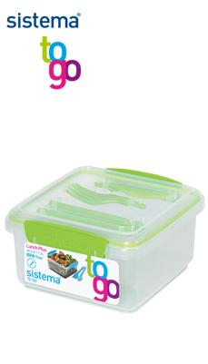 Sistema_TO GO_SI25652_Lunchbox mit Besteck grün